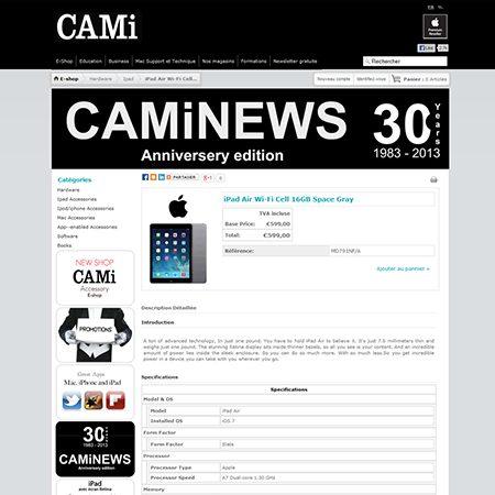 Cami - One of the leading Apple authorised resellers in Belgium, with 4 retail stores